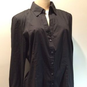 Express black sleeve blouse